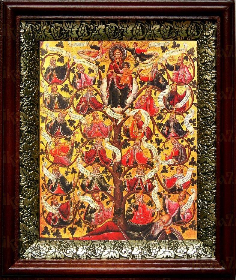 Древо Иессеево (19х22), темный киот