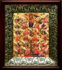 Древо Иессеево (21х24), киот со стразами