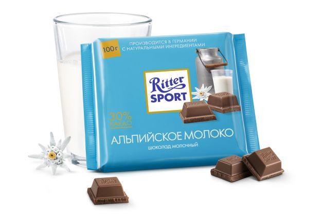 "Шок. ""РС"" мол. с альпийским молоком 100гр"