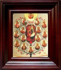 Древо Пресвятой Богородицы (21х24), простой киот