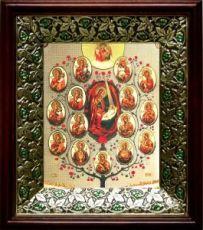 Древо Пресвятой Богородицы (21х24), киот со стразами