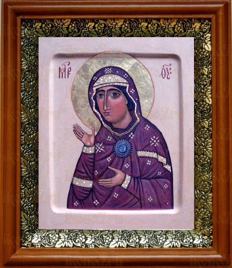 Едесская (Эдесская) икона БМ (19х22), светлый киот