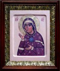 Едесская (Эдесская) икона БМ (19х22), темный киот