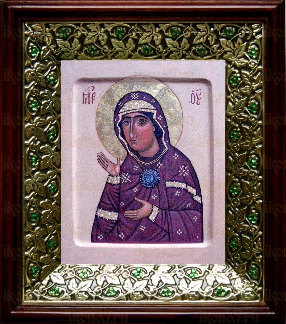 Едесская (Эдесская) икона БМ (21х24), киот со стразами