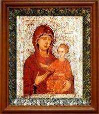 Елеоточивая (Элеовритисса) икона БМ (19х22), светлый киот