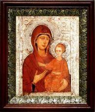 Елеоточивая (Элеовритисса) икона БМ (19х22), темный киот