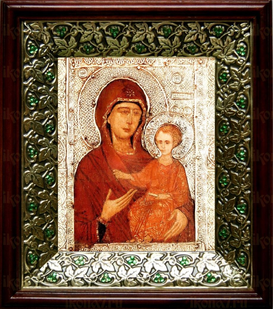 Елеоточивая (Элеовритисса) икона БМ (21х24), киот со стразами