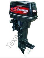 Zongshen T 30 FMS двухтактный подвесной лодочный мотор с двумя цилиндрами, объем двигателя 500 куб/см., дистанционное управление, ручной и электрический запуск двигателя. texnomoto.ru