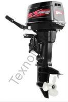 Zongshen T 35 BMS двухтактный подвесной лодочный мотор с двумя цилиндрами, объем двигателя 500 куб/см., румпельное управление, ручной и электрический запуск двигателя. texnomoto.ru