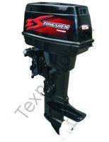 Zongshen T 25 FMS двухтактный подвесной лодочный мотор с двумя цилиндрами, объем двигателя 500 куб/см., дистанционное управление, ручной запуск двигателя. texnomoto.ru