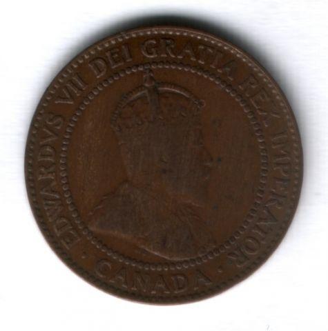 1 цент 1909 г. Канада
