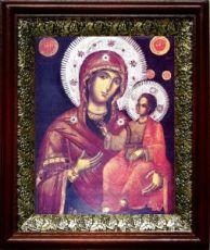 Григориатская икона БМ (19х22), темный киот