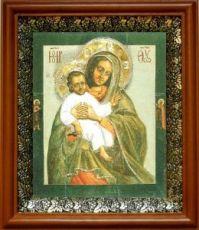 Евтропьевская икона БМ (19х22), светлый киот