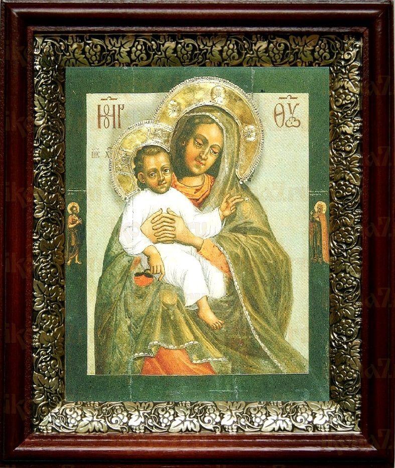 Евтропьевская икона БМ (19х22), темный киот