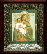 Евтропьевская икона БМ (21х24), киот со стразами