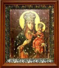 Дубовичская икона БМ (19х22), светлый киот