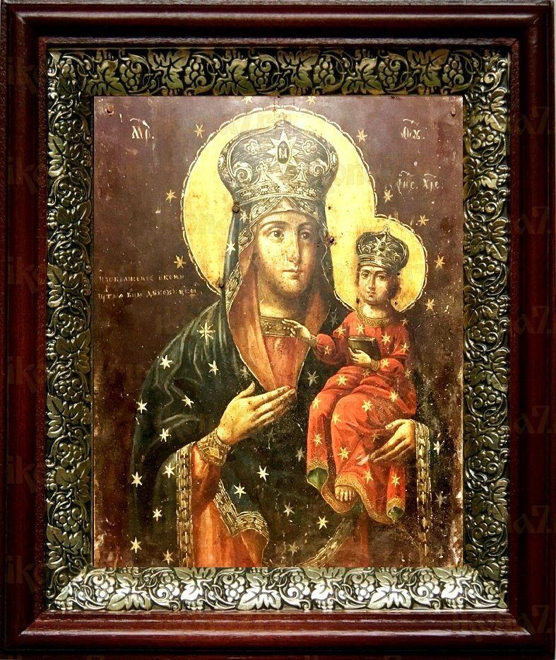 Дубовичская икона БМ (19х22), темный киот