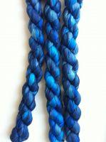 Индийский шёлковый шарф синего цета, купить в интернет-магазине в СПб