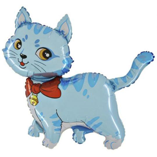 Котенок голубой на палочке