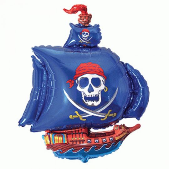 Пиратский корабль на палочке