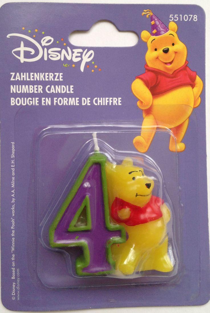 Свеча для торта цифра 4 Винни-Пух