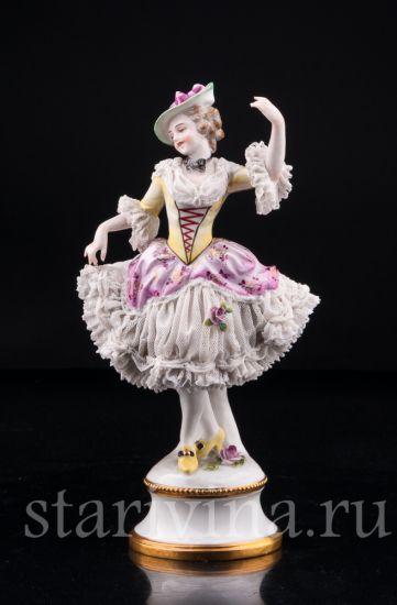 Изображение Танцующая девушка, кружевная, Volkstedt, Германия, до 1935 г