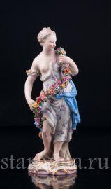 Девушка с цветочной гирляндой (Аллегория Весны), Meissen, Германия, кон 19 в. - нач.20 в., артикул 03094