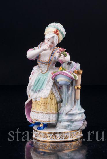 Изображение Девочка с цветами, Дрезден, Германия, 19 в