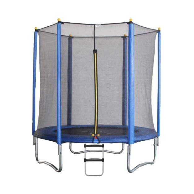 Батут с внешней защитной сеткой - Baby Grad Оптима 6ft( 1,82 метра), цвет синий