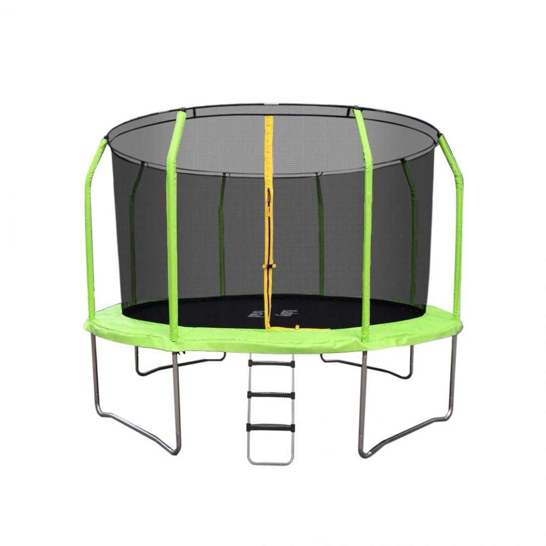 Батут с внутренней защитной сеткой - Baby Grad Космо 8ft( 2,44 метра), цвет зеленый