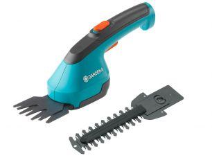 Комплект: Ножницы для газонов аккумуляторные AccuCut Li с 2 ножами (для травы - 8 см, для кустарников - 12 см) (Дисплей)