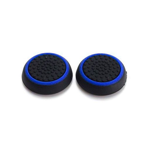 Насадки на стики черный/синий (2шт) (PS 4 Stick Silicon)