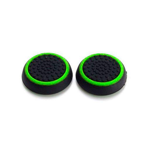 Насадки на стики черный/зеленый (2шт) (PS 4 Stick Silicon)