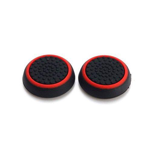 Насадки на стики черный/красный (2шт) (PS 4 Stick Silicon)