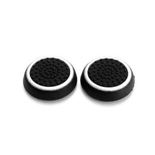 Насадки на стики черный/белый (2шт) (PS 4 Stick Silicon)
