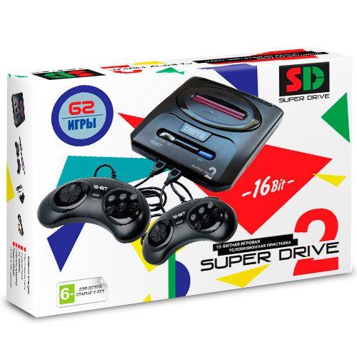 Sega Super Drive 2 (62-in-1) White (белая)