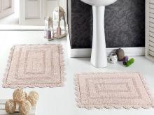 Комплект ковриков для ванной EVORA 60x100 + 50x70(пудра) Арт.5088-5