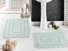 """Комплект ковриков для ванной """"MODALIN"""" кружевной EVORA 60x100 + 50x70 см (св.зеленый)Арт.5088-6"""