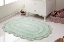 Коврик для ванной кружевной DIANA 50x80 (св.зеленый) Арт.5086-6