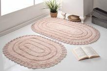 Комплект ковриков для ванной YANA 60x100 + 50x70 (пудра) Арт.5026-4