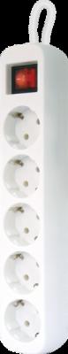 Удлинитель с заземлением S530 Выключатель, 3.0 м, 5 розеток