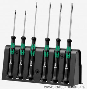 Набор отверток для электронщиков WERA Kraftform Micro + стойка 2035/6 A 118150