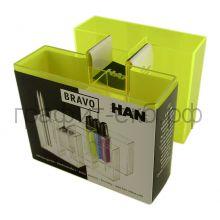 Подставка для ручек HAN Bravo прозр/жел  HA17456/75