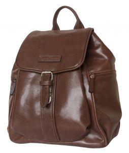 Женский кожаный рюкзак Aventino brown