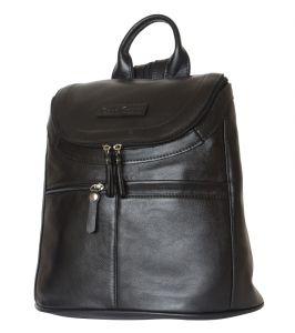 Женский кожаный рюкзак Voltana black