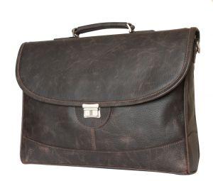 Кожаный портфель Ferrada brown