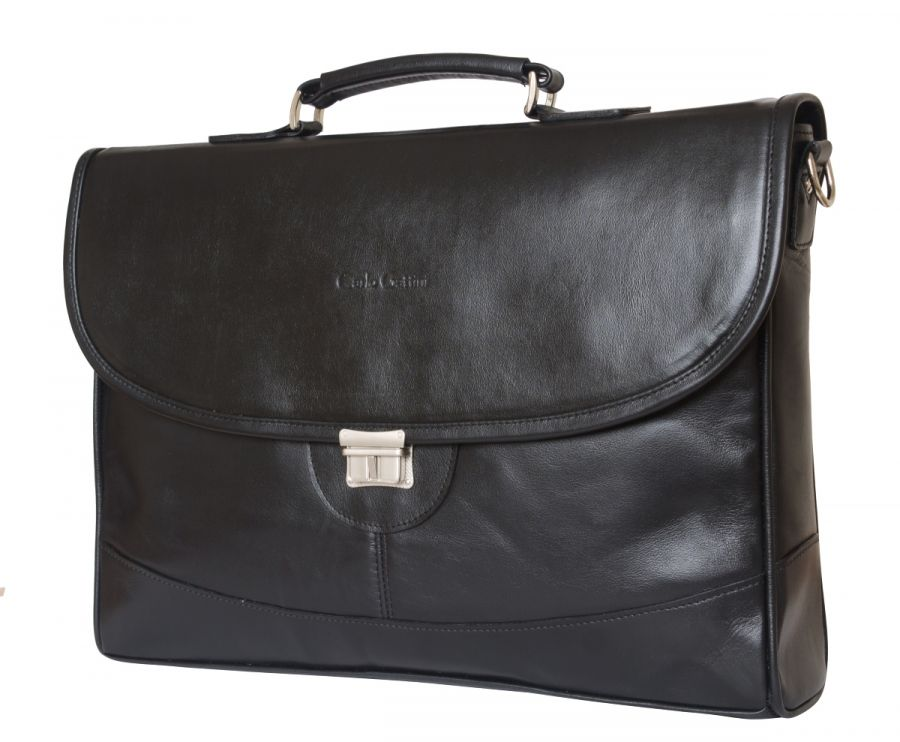 Кожаный портфель Ferrada black