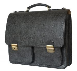 Кожаный портфель Fraccano black