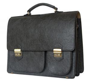 Кожаный портфель Fagetto black