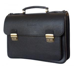 Кожаный портфель Corfino black